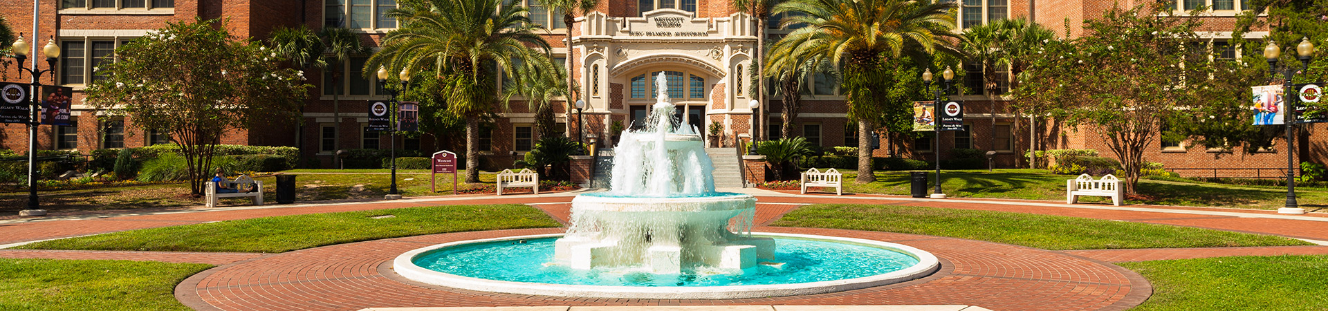Westcott fountain at Florida State University