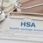 Health Savings Account Paper with Stethoscope