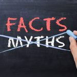 The Word Myths Crossed Out and Facts Written