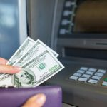 ATM Machine with money