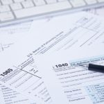 Tax Forms on a Table