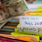Filing cash in tax refund folder