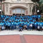 Tallahassee Future Leaders Academy students in front of Wescott Building
