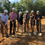 Members of FSU Credit Union Board of Directors and Leadership Team break ground at the site of the new Crawfordville branch