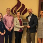 Pictured (left to right): FSUCU Marketing Director Jessie Watson, FSUCU VP of Operations Chris Wallace, LSCU Senior Director of Government Affairs – Florida Jennifer Martin, FSUCU President/CEO Chuck Adcock and FSUCU CFO Jennifer Durden.