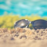sunglasses with SUMMER scrabble tiles